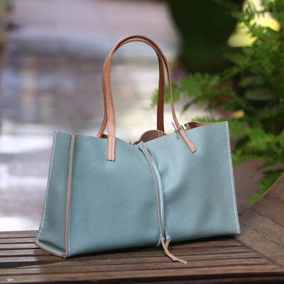 Leather Handbag Tiffany Blue Confection Handmade In From