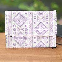 Cotton journal, 'Lovely Geometry' - Geometric Print Cotton Journal from Java