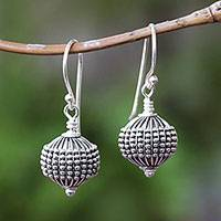 Sterling silver dangle earrings, 'Sanur Lanterns'