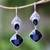 Onyx dangle earrings, 'Midnight Vision' - 5-Carat Onyx Dangle Earrings Crafted in Bali thumbail