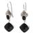 Onyx dangle earrings, 'Midnight Vision' - 5-Carat Onyx Dangle Earrings Crafted in Bali (image 2a) thumbail