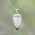 Garnet and bone pendant necklace, 'Dove Couple' - Garnet and Bone Dove Pendant Necklace from Bali (image 2) thumbail