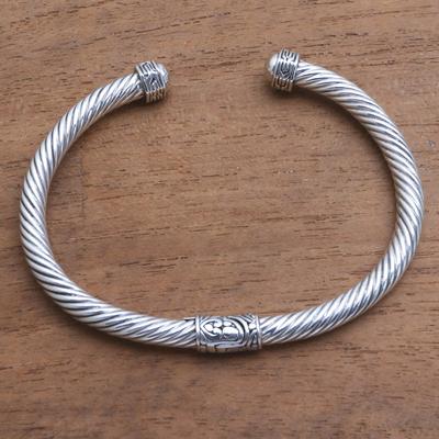 Sterling Silver Cuff Bracelet From Bali