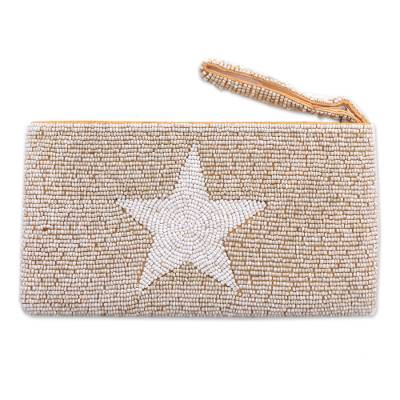 Star Pattern Plastic Beaded Wristlet from Bali