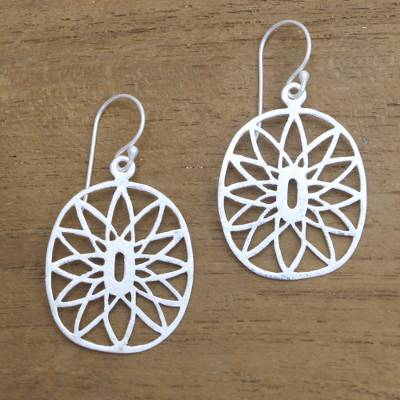 Sterling silver dangle earrings, Bright Future