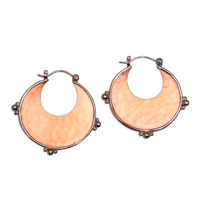 18k Rose Gold Plated Copper and Sterling Silver Earrings