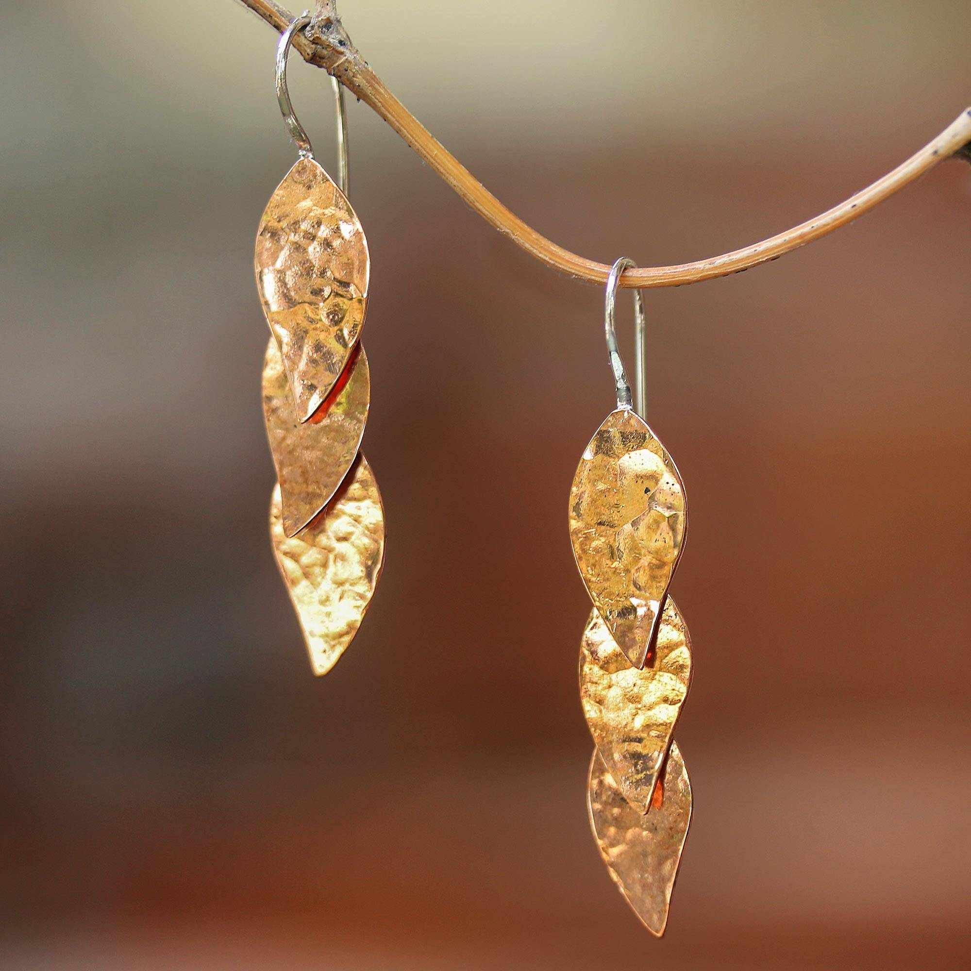 Dangle Earrings Handmade Long Metal Earrings Black Black Earrings Dangle,Copper Jewelry Handmade Hammered Copper Earrings