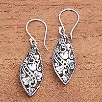 Sterling silver dangle earrings, 'Beautiful Twist'