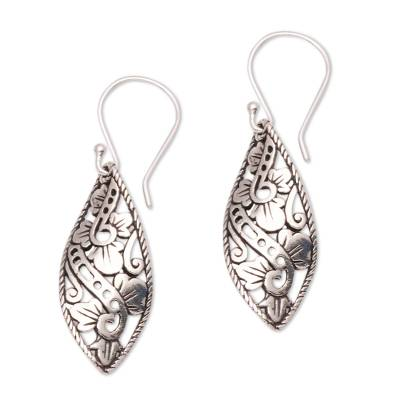 Sterling silver dangle earrings, 'Beautiful Twist' - Openwork Sterling Silver Dangle Earrings from Bali
