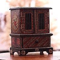 Featured review for Batik wood jewelry chest, Parang Flowers
