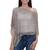 Crocheted poncho, 'Grey Sanur Shade' - Lightweight Hand Crocheted Poncho in Grey from Bali (image 2a) thumbail