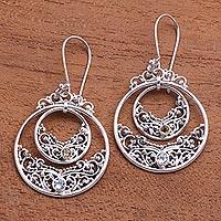Blue topaz and citrine dangle earrings, 'Elegant Horizon' - Blue Topaz and Citrine Dangle Earrings from Bali