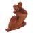 Wood sculpture, 'Act of Love' - Abstract Romantic Suar Wood Sculpture from Indonesia (image 2b) thumbail