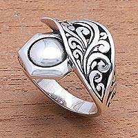 Sterling silver cocktail ring, 'Canopy Cover' - Artisan Crafted Sterling Silver Cocktail Ring from Bali