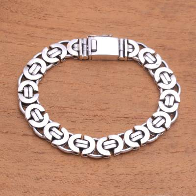 Sterling silver chain bracelet, 'Mariner Beauty' - Sterling Silver Mariner Chain Bracelet from Bali
