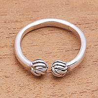 Sterling silver wrap ring, 'Bundles' - Artisan Crafted Sterling Silver Wrap Ring from Bali
