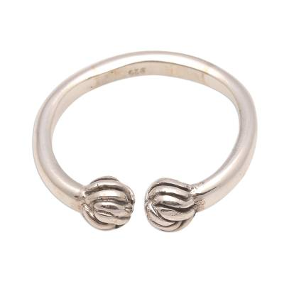 Artisan Crafted Sterling Silver Wrap Ring from Bali