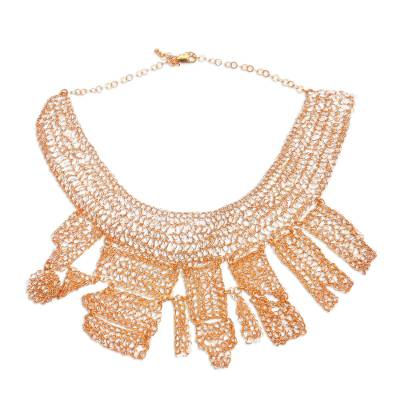 18k Gold Plated Copper Statement Necklace from Bali