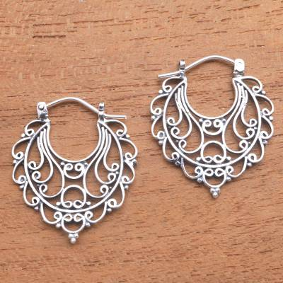 Sterling silver hoop earrings, Always Charming