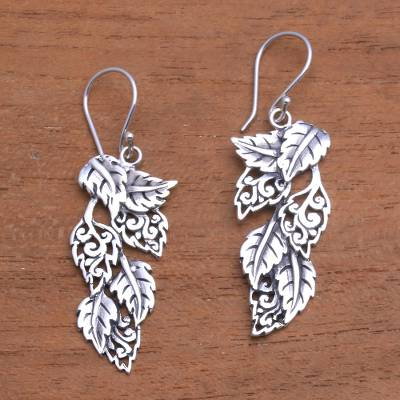 Sterling silver dangle earrings, Fantastic Forest