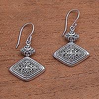 Sterling silver dangle earrings, 'Brilliant Design'