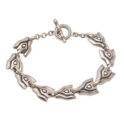 Sterling Silver Link Bracelet Crafted in Bali