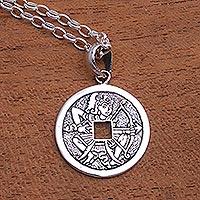 Sterling silver pendant necklace, 'Arjuna's Arrow' - Sterling Silver Arjuna Pendant Necklace from Bali