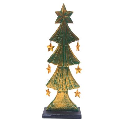 Wood Christmas Tree Tabletop Decor from Bali