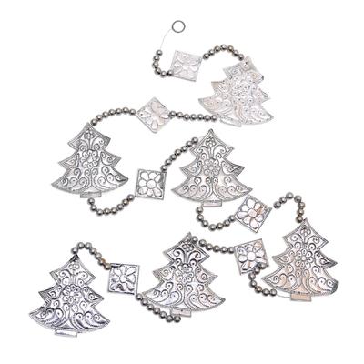 Aluminum Christmas Tree Ornament Garland from Bali