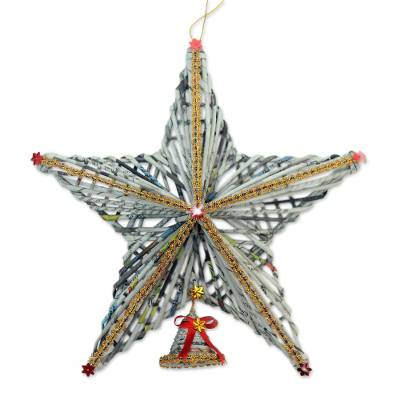 Recycled Paper Star Christmas Decor from Bali