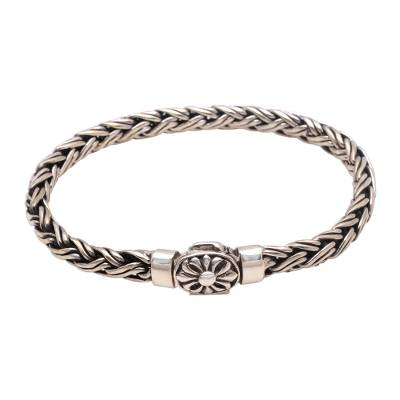 Sterling Silver Wheat Chain Bracelet from Bali