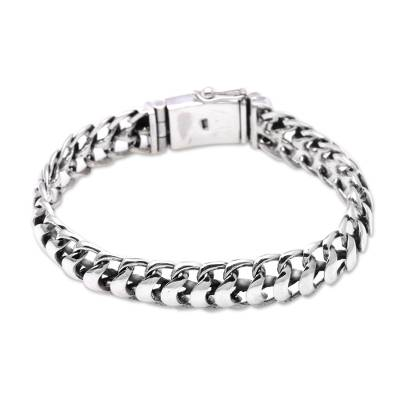 Sterling Silver Omega Chain Bracelet from Bali
