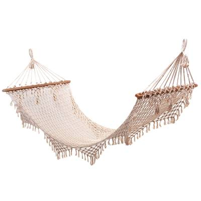 Hand-Knotted Cotton Rope Hammock from Bali (Single)