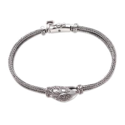 Sterling silver pendant bracelet, 'Stylish Eagle' - Sterling Silver Eagle Pendant Bracelet from Bali