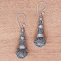 Sterling silver dangle earrings, 'Singing Morning'