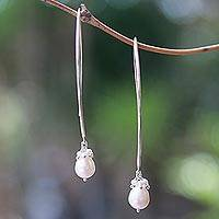 Cultured pearl dangle earrings, 'Glowing Fruit'