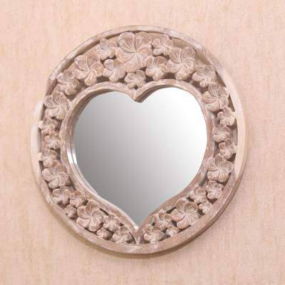 Wood wall mirror, Jepun Love