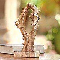 Wood sculpture, 'Wedding Dance'