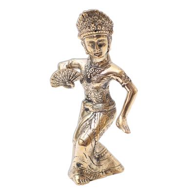 Antiqued Bronze Sculpture of a Balinese Dancer