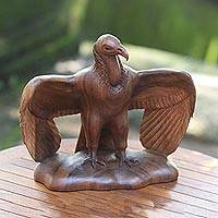 Wood sculpture, 'The Vulture'