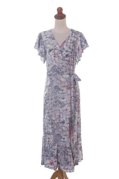 Rayon Wrap Dress Designed in Bali