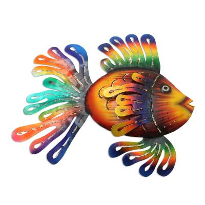 Colorful Steel Fish Wall Sculpture