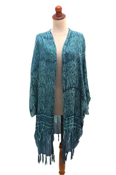Breezy Rayon Kimono with Batik Design