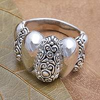 Sterling silver cocktail ring, 'Generosity' - Sterling Silver Cocktail Ring from Bali