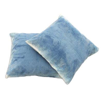 Blue Tie Dye Cushion Cover Pair