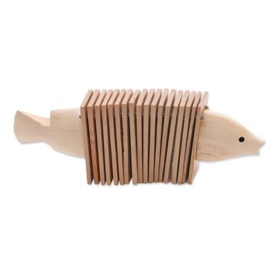 Wood percussion instrument, 'Clacker Fish' - Hand Carved Wood Balinese Clacker Percussion Instrument