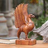 Wood sculpture, 'Liver Bird'