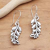 Sterling silver dangle earrings, 'Rice Stalks' - Detailed Rice Stalk Sterling Silver Earrings