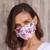 Cotton face masks, 'Balinese Wildflowers' (set of 4) - Four 2-Layer Cotton Wildflower Print Elastic Loop Face Masks thumbail