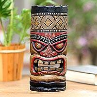 Wood mask, 'Papua Pride IV' - Artisan Crafted Wood Wall Mask
